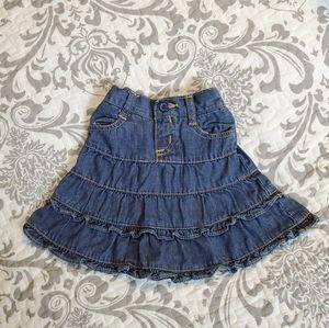 Children's Place Denim Ruffle Skirt 6-9 Months